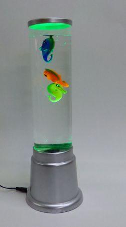 Wassersäulen LED Lampe Höhe 360 mm 3 x Seepferdchen mit Netzteil -#3476 – Bild 4