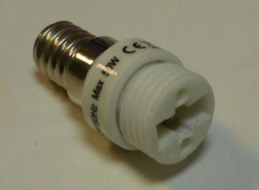 Adapter von E-14 auf Sockel G-9 Porzellan -#3723