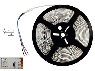 LED Band weisser Grund Länge 5 m IP 20 300 LED 5050-er RGB -#4266 – Bild 1