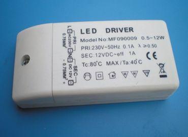 LED elektronisches Netzteil 12 Volt DC 0,5-12 Watt -#4487