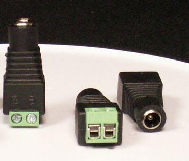 LED Mono Stecker mit Schraubanschluß -#4501