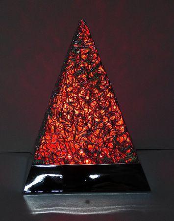 LED Pyramide 5,5 Watt Alu Fuß RGB  -#4737 – Bild 3