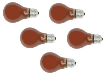 Glühlampe Glühbirne 25 Watt E-27 orange 5-er SET -#4811 – Bild 1
