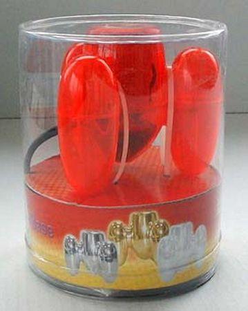 6 x Fassung Space E-27 rot transparent Elektro Lampe -#1609 – Bild 1