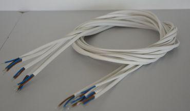 Kabel Zuschnitt Länge 1,55 m 0,5 m²  weiss 5-er Pack -#5430