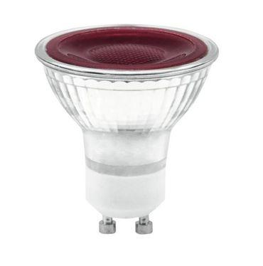 LED Lampe 7 Watt rot Ø 50 mm 230 Volt GU-10 -#5472 – Bild 1