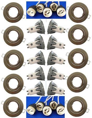 Eisen Einbauspot 4x1W 290 Lumen ww 10er SET -#5504 – Bild 1