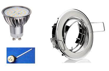 Einbau Spot Chrom 5 Watt warm weiß 320 Lumen DIMMBAR  -#5707 – Bild 1