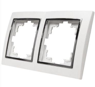 Levina S 2-er Rahmen silberne Zierleiste  -#5751 – Bild 1