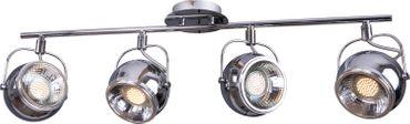 Retro Decken Lampe 4-flg. GU-10 Sockel für LED Alu verchromt -#6105 – Bild 1