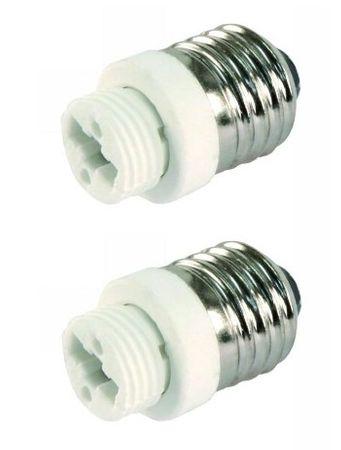 Adapter von E27 auf Sockel G9 im 2er Pack -#6139