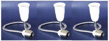 Adapter von E27 auf Sockel E27 50cm-beweg.-3erPack -#6148