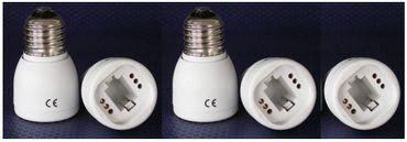 Adapter von E-27 auf Sockel G-24 Kunststoff 3-er Pack -#6151