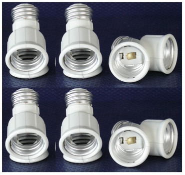 Adapter von E27 auf Sockel 2xE27 Kunstoff 6er Pack -#6154