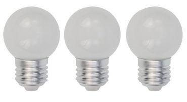 LED Lampe Tropfen 0,9 Watt warmweiss Sockel E-27 matt 3-er Pack -#6207 – Bild 1