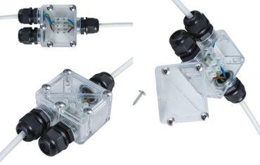 Kabelverbinder 2-fach IP-67 für Außen 3-er Pack -#6274