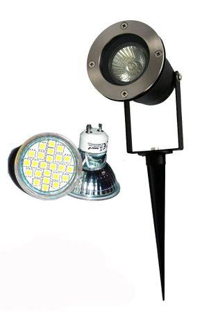 LED Gartenspot 4 Watt 300 Lumen warmweiss 230 Volt mit Erdspiess -#6337 – Bild 1