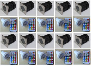 Bodeneinbau LED RGBWW Strahler +FB +Timer 10-erSET / eckig -#6364 – Bild 1