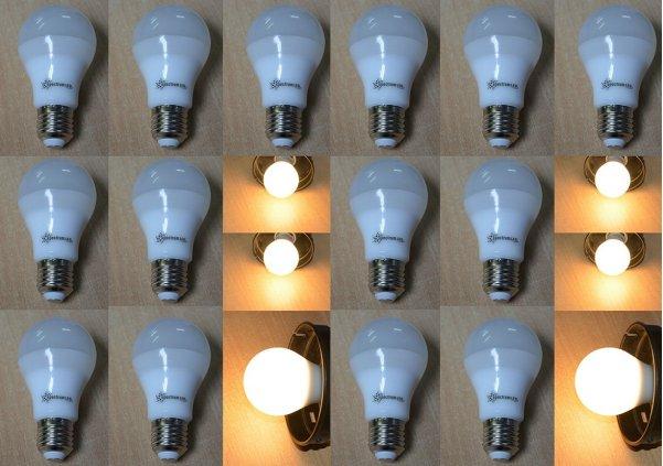 led lampe 7 watt kaltweiss 500 lumen sockel e 27 20 er pack 6398 led lampen led lampen e27 agl. Black Bedroom Furniture Sets. Home Design Ideas