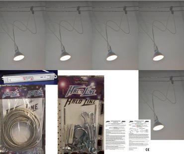 Seilsystem White Line mit 5 Stück 5 Watt 470 Lumen LED Leuchten warmweiss -#6709 – Bild 1