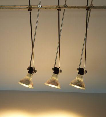 Seilsystem LED 3 x Stab 250 mm schwarz 280 Lumen LED Lampe 120° warmweiss -#6757 – Bild 1