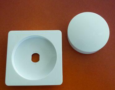 DELPHI 1 x 1-er Rahmen mit Platte + Knopf für Dimmer -#6832