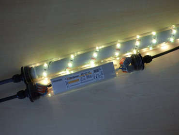 Gabionen Leuchte LED 360 Grad 0,85 m warmweiss -#6864 – Bild 2