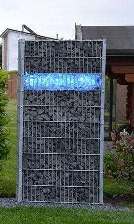 Gabionen Leuchte LED 360 Grad RGB 0,85 m 2-er SET -#6889 – Bild 1