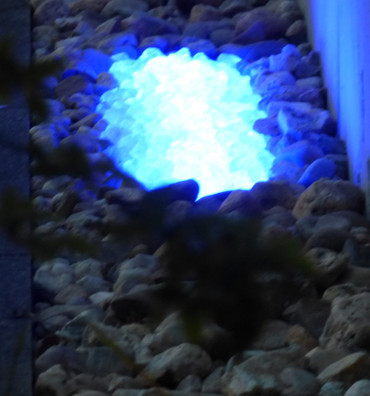 Gabionen Leuchte LED 360 Grad 0,50m blau -#6906 – Bild 1