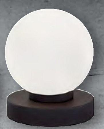 Prinz Leuchte schwarzer Fuß weißes Glas -#6961 – Bild 1