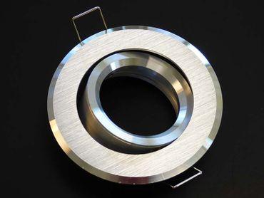 Einbau Strahler ALU 2-farbig gebürstet Silber GU-10 -#7016 – Bild 1