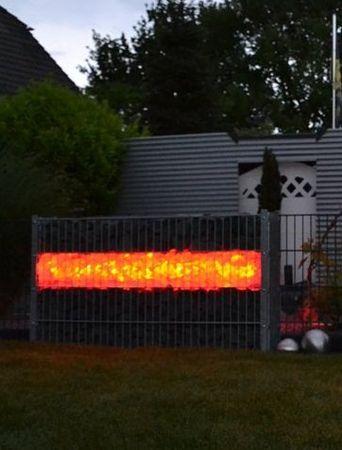 Gabionen Leuchte LED 360 Grad 1,20 meter 2-er SET rot -#7085 – Bild 2