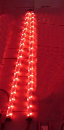 Gabionen Leuchte LED 360 Grad 1,20 meter 2-er SET rot -#7085 – Bild 1