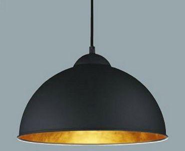 Pendel Leuchte goldener Reflektor max. 60 Watt schwarz -#7148 – Bild 1