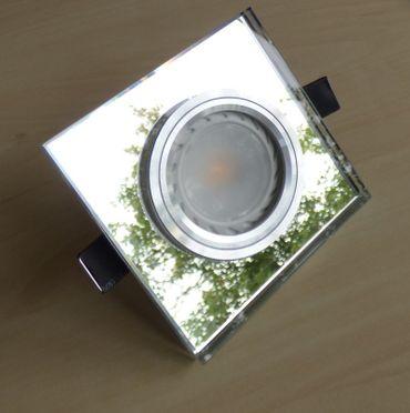 Einbaurahmen Spiegel eckig Glas 90 x 90 mm für Ø 50 mm -#7166 – Bild 3