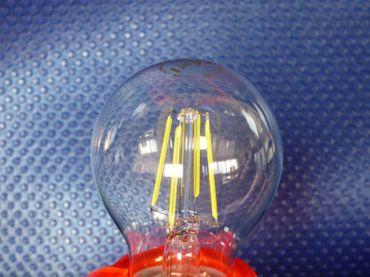 LED Glühlampe 6 Watt kaltweiss klar COG Sockel E-27 640 Lumen  -#7294 – Bild 2