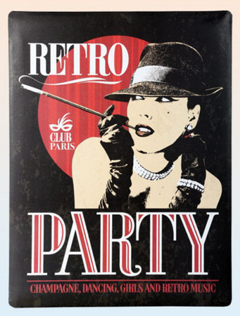 RETRO Metallschild 30 x 40cm Party -#7386
