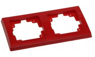 DELPHI 2-fach Rahmen rot Elektro Dose Stecker Kupplung -#7456