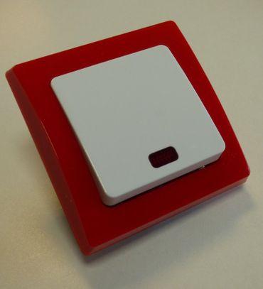 DELPHI Kontrollschalter Glimmlampe Rahmen rot Elektro Stecker -#7473