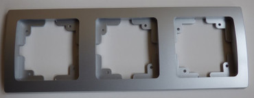 DELPHI silbern Rahmen 3-fach Elektro Dose Stecker Kupplung -#7497