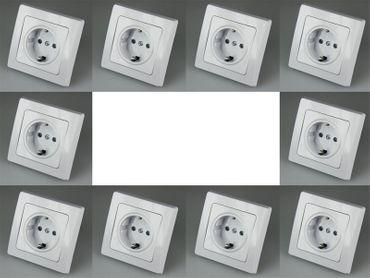 DELPHI 10-er Pack Steckdosen weiss Elektro Dose Stecker Kupplung -#7529