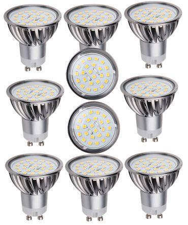 LED Lampe dimmbar 5 Watt 320 Lumen GU 10 warmweiss 10 Stück -#7651 – Bild 1