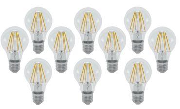 LED Glühlampe 4 Watt klar COG E-27 450 Lumen warmweiss 10 Stück -#7670 – Bild 1