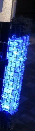 Gabionen Leuchte 360 Grad RGB Vertikal 1,40 m 2-er SET -#7717 – Bild 1