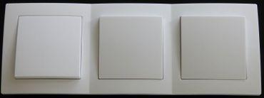 Levina Kunststoff 3 x Wechselschalter weiß 250 Volt 10 Ampere -#7777