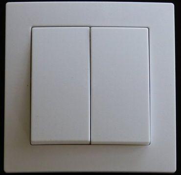 Levina Kunststoff 1 x Serienschalter weiß 250 Volt 10 Ampere -#7779