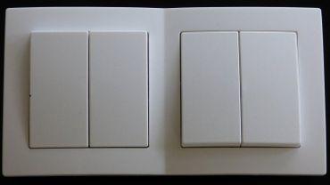 Levina Kunststoff 2 x Serienschalter weiß 250 Volt 10 Ampere -#7780