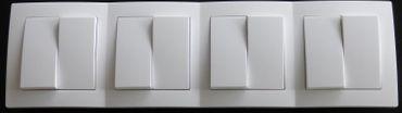 Levina Kunstst. 4x Serienschalter weiß 250V 10A -#7782