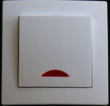 Levina Kunststoff 1 x Schalter + Kontrolllampe weiß -#7783