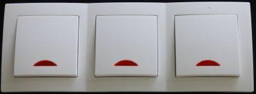 Levina Kunstst. 3x Schalter mit Kontrolllampe weiß -#7785